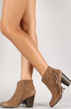 Really want a pair of these cute fringe booties