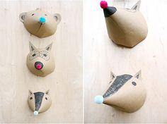 DIY Paper Animal Heads #kids