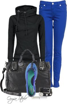 """Weekend Fun"" by orysa on Polyvore.  Love the jacket....not so much with the pants, but cute:)"