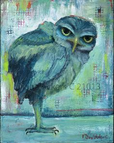 'Blue Owl' by Diane Ackers