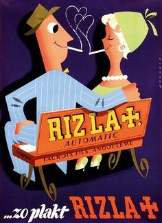 Reclame affiche voor Rizla, Reyn Dirksen, rond 1955