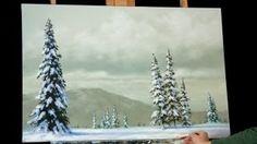 how to paint a tree acrylic - YouTube