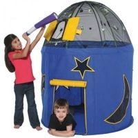 Bazoongi speeltent raket met glow in the dark sterrenhemel