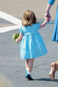 Princess Charlotte arrives at Berlin Tegel Airport during an official visit to Poland and Germany on July 19, 2017 in Berlin, Germany.
