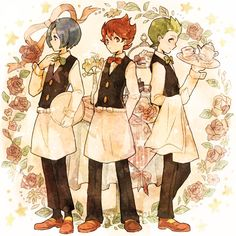 Pokemon Black & White - Cress, Chili, and Cilan. #PokemonBW #Cress #Chili #Cilan