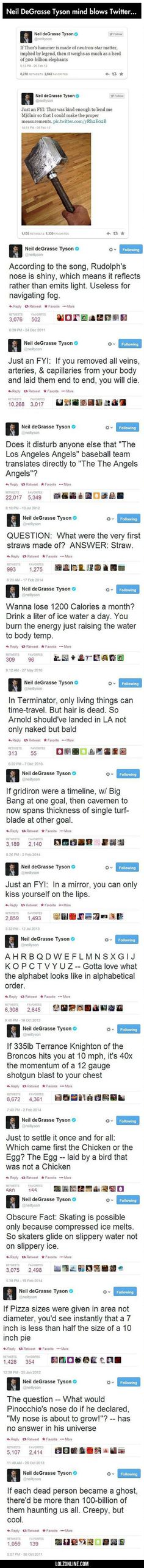 Neil Degrasse Tyson Mind Blows Twitter...#funny #lol #lolzonline