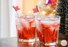 A Collection of Holiday Cocktails: Cherry Vodka Sparkler