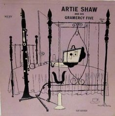 Arty Shaw and his Gramercy Five, Vol. 3, Label: Clef MGC-630 (1954) Design: David Stone Martin.