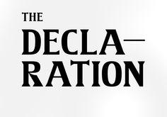 The Declaration - Type Design - Jimmy Duus
