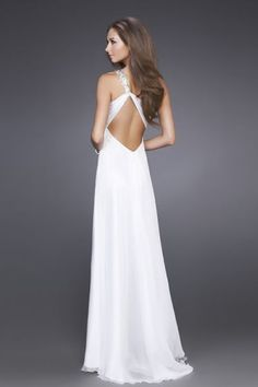 Strappy white dress and spectacular back