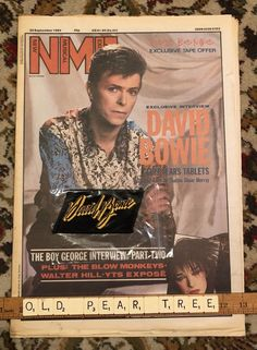 Vintage David Bowie Original 1970s Sew-on Patch Black Yellow NME 1984 Newspaper | eBay