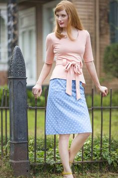 Perfect Pastel Pencil Skirt | Gardenias and Gingham by Shabby Apple