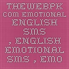 Emotional sms in english for girlfriend