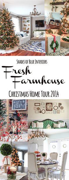 Christmas Home Tour 2014 - Shades of Blue Christmas Time Is Here, Merry Little Christmas, Christmas Love, Country Christmas, All Things Christmas, Winter Christmas, Christmas Thoughts, Christmas Ideas, Decorating Blogs