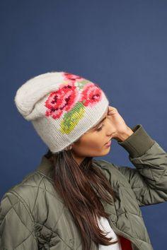 a9e4f7fb52f Floral Cashmere Beanie Diy Accessories