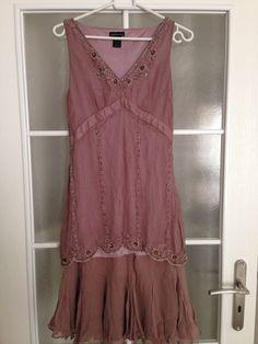 Victoria's Secret Moda International Muave 100% Silk dress size 4 #VictoriasSecret #BlousonFlapperTiered #Clubwear