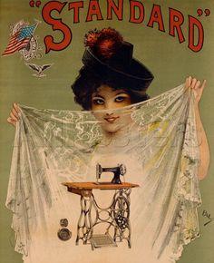 Vintage Sewing Machine Poster