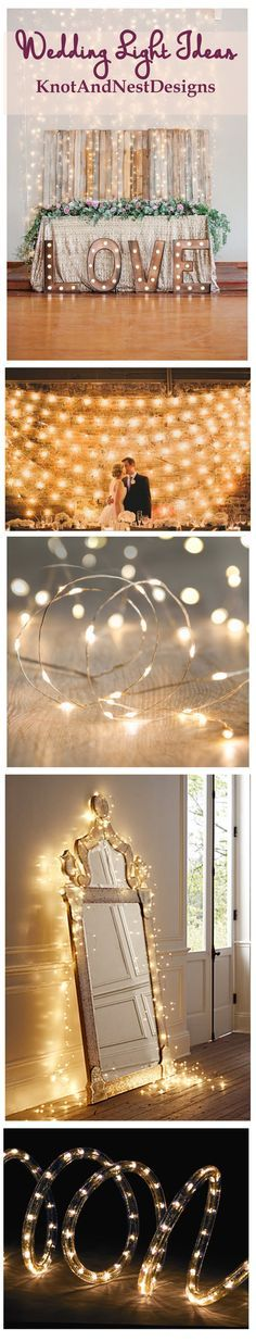 gosh how many ways can you decorate with lights at your wedding I love all these fun ideas.