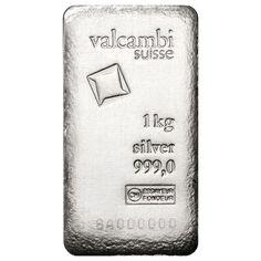 Buy 1 kilo Valcambi Cast Silver Bars (New, Antique Finish) l JM Bullion™