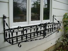 Wrought Iron Window Box With An
