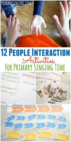 12 people interaction / group activities for Primary Singing Time. Lots of ideas for LDS Music Leaders and all music teachers! Learning Styles Activities, Senses Activities, Primary Activities, Group Activities, Kids Learning, Primary Songs, Primary Singing Time, Lds Primary, Primary Lessons
