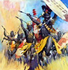 Zulu War Dance (Original) art by James McConnell