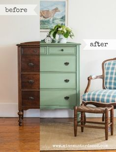 Lucketts Green Highboy - Miss Mustard Seed