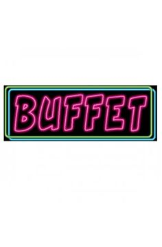 Neon Buffet Sign - Las Vegas Casino Party Decoration ideas