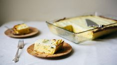 Make Ahead Polenta with Green Onions and Ricotta