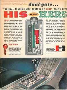 """Hurst performance Dual Gate """"His 'n Her's"""" Automatic shifter"""