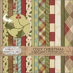 Peppermint Creative - Cozy Christmas Papers $4.50