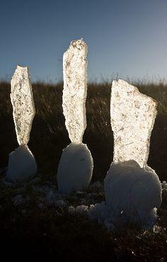 Ice Catch Light. Land Art by Richard Shilling.