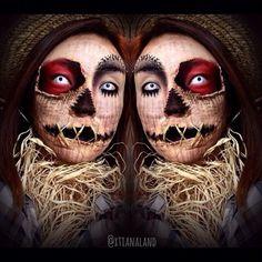 #scarecrow makeup  #Halloween #makeup by cindy