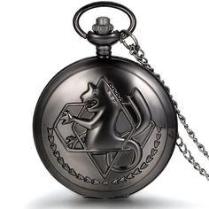 JewelryWe Retro Taschenuhr Hippocampus Herren Kettenuhr Analog Quarz Uhr mit Halskette Kette Umhängeuhr Pocket Watch Vatertag Geschenk Schwarz                die uhr ist aus fma aber die verkäufer scheinen keine ahnung davon zu haben