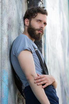 Model: Antonio Bordonaro Ph: Paolo Tuntar Fashion street shooting  Hipster style  Beard life
