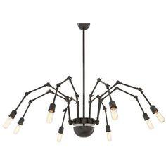 Eichholtz Spider Ceiling Light 8 - Light Bronze (115.960 RUB) ❤ liked on Polyvore featuring home, lighting, ceiling lights, interior, black, black ceiling lights, black pendant lighting, black light, angle lamp and bronze light