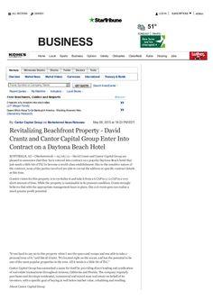 Revitalizing Beachfront Properties #DavidCrantz #Landmarc #Phoenix #DaytonaBeach #CantorFunding