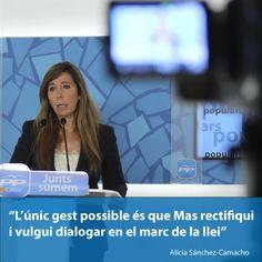 """Sánchez-Camacho: """"L'únic gest possible és que Mas rectifiqui i vulgui dialogar en el marc de la llei""""  http://www.ppcatalunya.com/sanchez-camacho-el-unico-gesto-posible-es-que-mas-rectifique-y-quiera-dialogar-en-el-marco-de-la-ley/"""