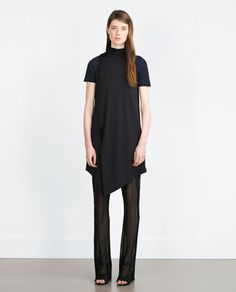 Image 1 of TROUSERS WITH SHEER DETAIL from Zara