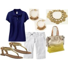 polyvore summer outfits bermuda | old navy womens the diva clean front denim bermudas 12 old navy womens ...