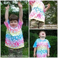 iLoveToCreate Blog: Space Sticker Resist ColorShot Shirts