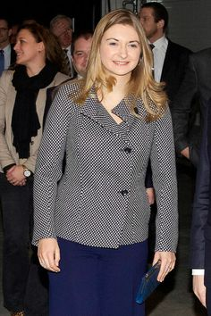 Hereditary Grand Duchess Stephanie of Luxembourg attends the country's first Learning Factory.