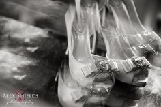 Wedding shoes photograph - reflection creative wedding photography by Alexi Shields
