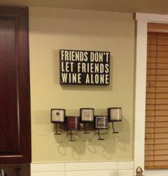 Wall Decor Kitchen Wine Dedication Area