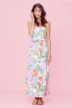 Target strapless chiffon maxi dress