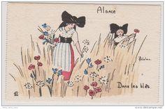 Lot de  10 CP Fantaisie    Format 130 x 85 mm -  Delalain  - En Alsace-Lorraine