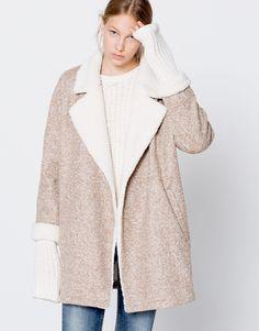 Manteau maille revers fourrure Vêtements Femmes, Fourrure, Manteau, Hiver,  Pull   f519653e26ca