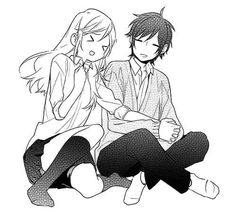 Hori and Miyamura- kawaii Kawaii Anime, Manga Anime, Photo Manga, Wie Zeichnet Man Manga, Horimiya, Manga Couple, Estilo Anime, Anime Kunst, Manga Love