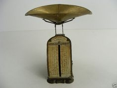 Antique Original CONFECTIONARY SUGAR CHOCOLATE CANDY Imperial Scale Brass 1899