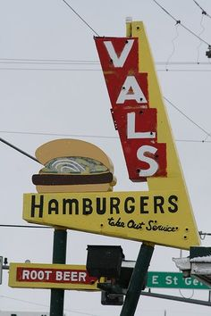 Val's Hamburgers (early 60's) on Route 7, Danbury, Ct which was very similar to the early McDonald's -- this picture is of a Val's (no relation) in St Cloud, MN